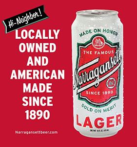 El primer anuncio fue de la cerveza Narragansett