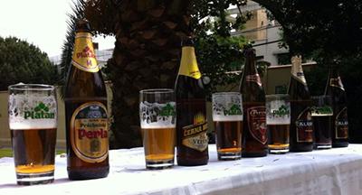 Algunas de las cervezas de Lobkowicz