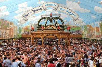 Hacker Festzelt otra de las carpas más conocidas de Munich