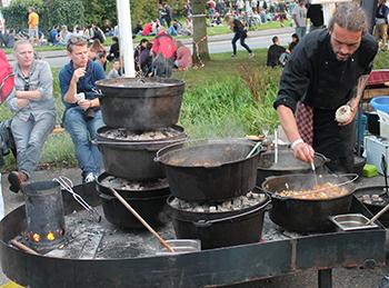 La comida, parte fundamental en estos eventos
