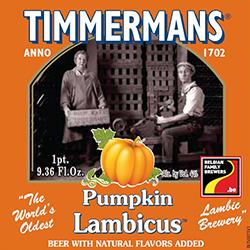 Etiqueta de la Timmermans Pumpkin Lambicus