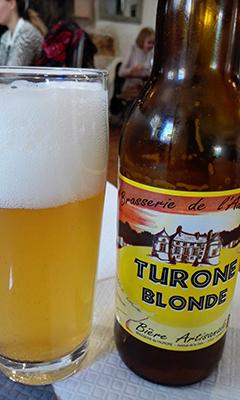 Cerveza local de Brasserie L'Aurore