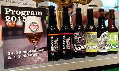 Las cervezas nacionales también estuvieron presentes, Bidassoa, La Quince y Sweet Dreams
