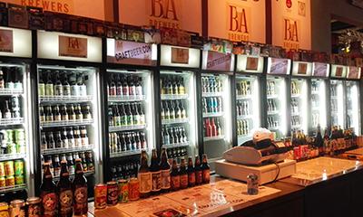 El puesto de la Asociación de Cerveceros Americanos fue uno de los más concurridos